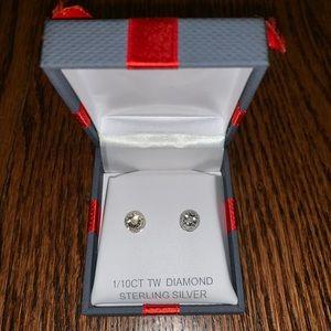 Macy's Diamond Stud Earrings 1/10 Carat TW
